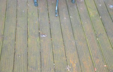houten vlonder schoonmaken